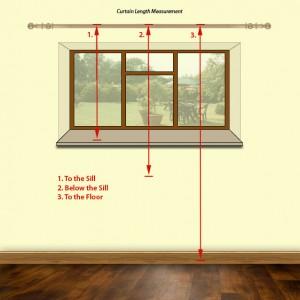 Measure for curtain length 300x300 - CÁCH TÍNH MÀN VẢI
