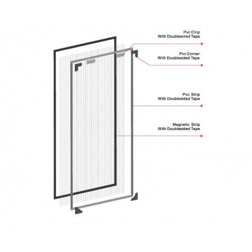 ELEGANT 3M DIY MAGNETIC INSECT SCREEN